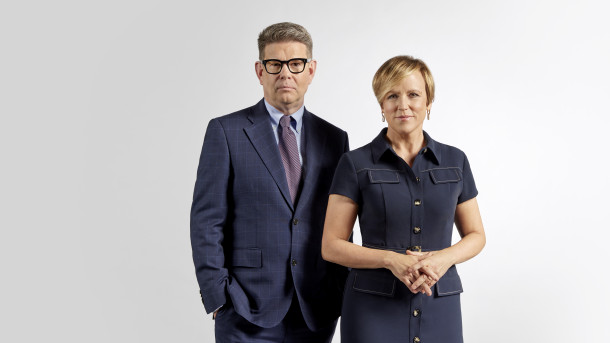 John Campbell and Hilary Barry TVNZ 1 1 News Your Vote 2020 Election Night Special